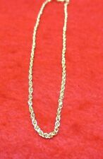 9 1/2 Inch 14Kt Gold Ep Small Rope Ankle Bracelet