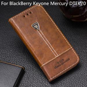 For Blackberry Keyone Mercury DTEK70 Wallet Flip Pu Leather Back Cover Case