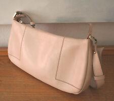 Lamarthe Tasche, schöne Handtasche, Leder hell beige, 100 % Original
