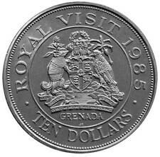 GRENADA $10 1985 UNC ROYAL VISIT - QUEEN ELIZABETH II