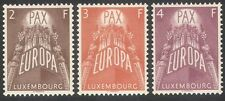 "LUXEMBOURG 1957 Europa/""PAX""/paix/Blé/Raisin/FOOD/INDUSTRIE 3 V Set (n42307)"