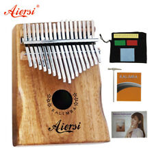 More details for aiersi solid koa 17 key gecko kalimba with song instruction book kids music gift
