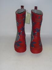 JOULES R-MOLLYWELLY FLORAL SHORT WELLINGTON BOOTS NEW EX-DISPLAY