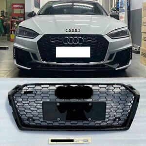 FOR AUDI A5 S5 B9 2017-2019 FRONT BUMPER GRILLE HONEYCOMB HOOD GRILL BLACK