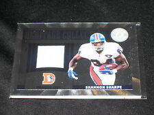 SHANNON SHARPE BRONCOS 2012 PANINI CERTIFIED EVENT WORN FOOTBALL JERSEY CARD /49