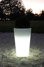 """Pflanzkübel """"Rondo Classico"""" aus Kunststoff beleuchtet, 70 cm, Weiß"""