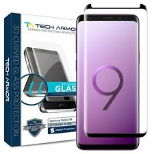 Tech Armor 3D-Edge Glass Screen Protector (Black)[1-Pack] for Samsung Galaxy S9
