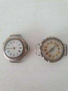Antique Silver Wrist Watches and silver pocket watch case