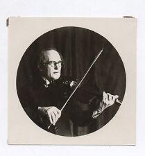 PHOTO ANCIENNE Musicien Vers 1920 Violon Violoniste Portrait Rond Cercle Lunette
