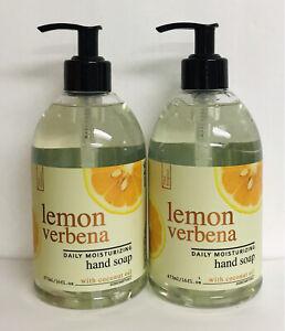 2 Bottles Lemon Verbena Moisturizing Hand Soap with Coconut Oil 16 fl oz Each