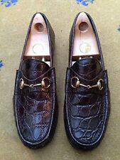 Gucci Mens Shoes Brown Leather Horsebit Loafers UK 10 US 11 EU 44 1953