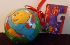 DISNEY WINNIE THE POOH CHRISTMAS  ROUND BALL  ORNAMENT