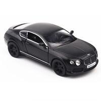 1:36 Bentley Continental GT V8 Model Car Diecast Toy Vehicle Pull Back Black Kid