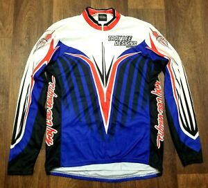 Vintage Troy Lee Designs TLD Mountain Bike MTB Cycling Jersey L Made In USA