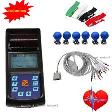 Portable ECG Monitor EKG Machine 12 Leads Electrocardiograph 1 Channel Printer