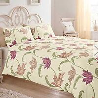 Kinsale Floral Duvet Cover & Pillowcase Set Blue Heather Natural Pink Terracotta