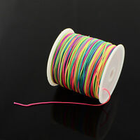 Multi Coloured Nylon Thread Cord, 1mm, 2m 5m or 10m length for jewellery making