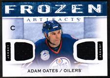 2014-15 Artifacts Frozen Artifacts Blue #FAAO Adam Oates Oilers Jersey (rf 7080)