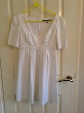 French Connection White Dress, Size 8