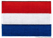 NETHERLANDS FLAG embroidered iron-on PATCH DUTCH EMBLEM Nederland APPLIQUE new