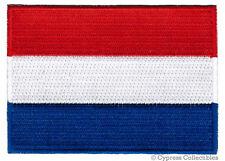 NETHERLANDS FLAG embroidered iron-on PATCH DUTCH EMBLEM Nederland APPLIQUE new