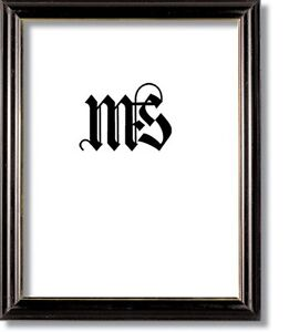 Black & Gold Solid Wood Frame for Picture/Photo/Poster/Diploma, #604