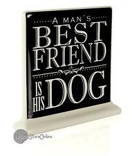 A Dog Is Man's Best Friend Ceramic Dog Plaque Gift BB104