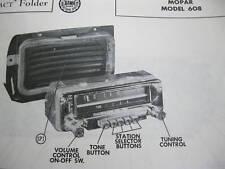 1953 PLYMOUTH MOPAR 608 RADIO PHOTOFACT