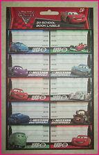 CARS 2 - 20 School Book Labels / Stickers - Lightning McQueen WGP - Disney Pixar