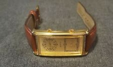 Dual Face Time Wrist Watch, Casing Gold Tone, Stainless Steel back cover