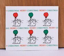 "1982 Twelve Boynton Cat ""Merry Christmas"" 2 1/2"" X 3"" Blank Cards"