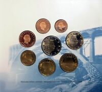 LUXEMBOURG 2003 FULL EURO SET 8 COINS OFFICIAL MINT BU FOLDER BRILLIANT UNC NEW