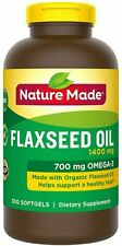 Nature Made Flaxseed Oil 1400mg w/ Omega-3 700mg, 300 Softgel Tablets