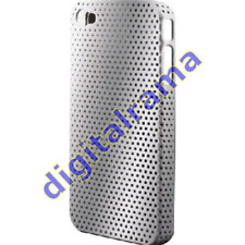 Cover in PVC Airhole Silver/Argento x iPhone 4 (CPH-15) Keyteck