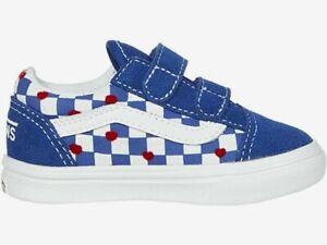 Vans Old Skool V Autism Awareness C.C. Toddler Shoes - Hrt/Tru Blu VN0A4TZIWI4