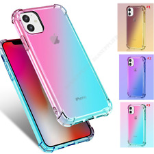 For iPhone 11 Pro Max XR XS SE2 6S 7 8 Plus Gradual Color Clear Shockproof Case