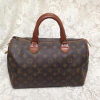 Louis Vuitton Brown Mono Boston Speedy 30 Hand Bag 12.5in x 8in x 6in