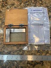 """Mitutoyo Precision Steel Square 916 3"""" Mahogany case box wooden H54"""