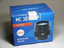 Zenitar-C MC 1.2/50s 1,2/50mm APS-C lens for Canon EF EOS. BRAND NEW!