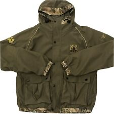 Mad Dog Mens Camouflage Full Zip Jacket Hooded Lined Brown Size Small