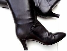 T O P STRENESSE / G. Strehle Luxus Stiefel Leder in 37.5 e v t 38 S C H W A R Z