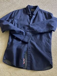 Men's Scotch & Soda Medium Casual Navy Pattern Shirt Scotch Soda Top