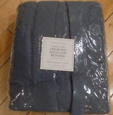 Restoration Hardware Vintage Wash Diamond Matelasse King Bed Skirt Noct ? Blue