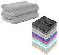 2er SET FROTTEE Handtuch 50 x 100 cm Handtücher Premium 100% Baumwolle 500g / m²