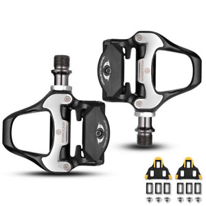 New CR-MO Road Bike Clipless Pedals with SPD-SL Cleats Steel Axle