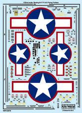 Kits-World 1/32 B-17f/B-17g Flying Fortress Rojo Outlines Estrellas y Barras