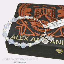Authentic Alex and Ani Cloud Beaded Swarovski Crystal Shiny Silver Bangle