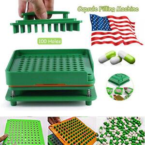 Empty Capsule Plates Spreader 100 Holes Powder Cosmetics Capsules Manual Filling