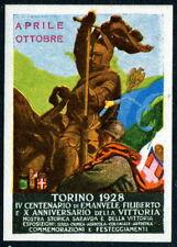 Poster Stamp: 1928 Torino Exposition Gummed Seal