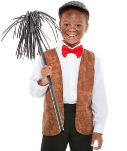 Childs Chimney Sweep Fancy Dress Kit Childrens Victorian Costume Set by Smiffys